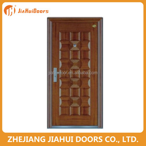 Entry security steel safety door grill design