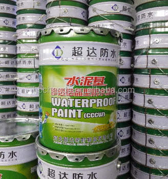 Cementitious capillary crystalline waterproof material waterproof coating for basement roof waterproofing