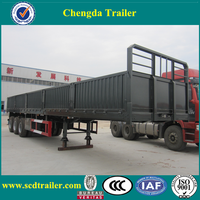3 axle 40 tons flatbed side wall bulk cargo utility trailer