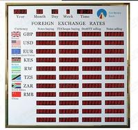 bank exchange billboard currency exchange screen display electronic led exchange rate for bank display