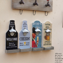 American country retro cafe bar Creative beer bottle opener housing wall decoration wall decorations wall Free