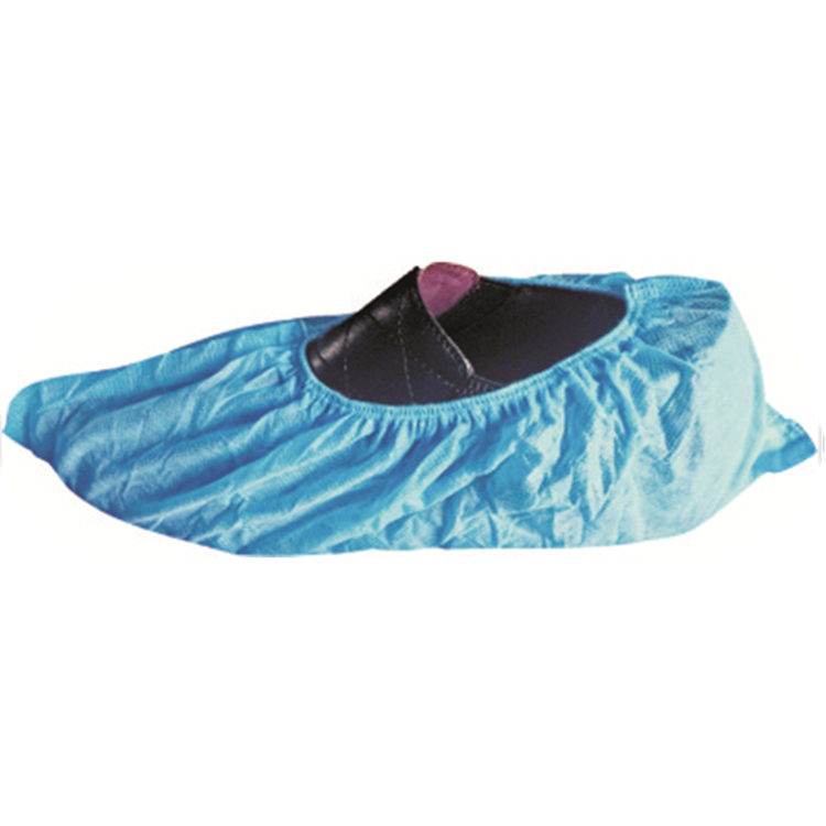 Disposable machine made anti-skid nonwoven shoe cover