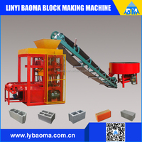 semi automatic brick making machine QT4-26 cement block machine price