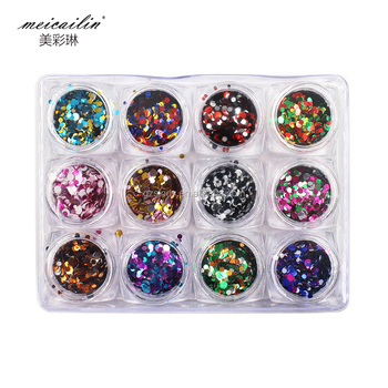 Round Mixed Size Round Ultrathin Sequins Nail Art Accessories Buy
