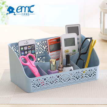 Fashionable design patterned small lattice mesh plastic household storage basket