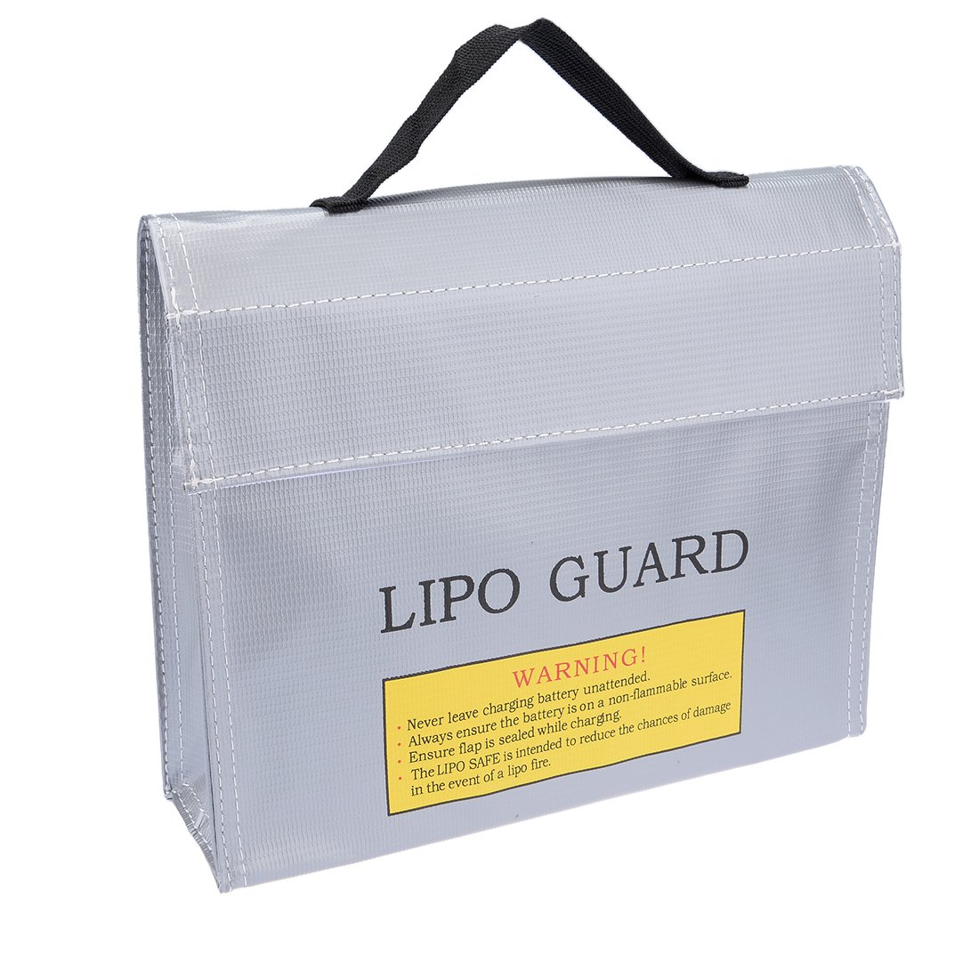 uxcell Fireproof RC Lipo Battery Storage Charging Safe Bag Pouch Sack Lipo Battery Guard 215mm x 45mm x 165mm Large Silver