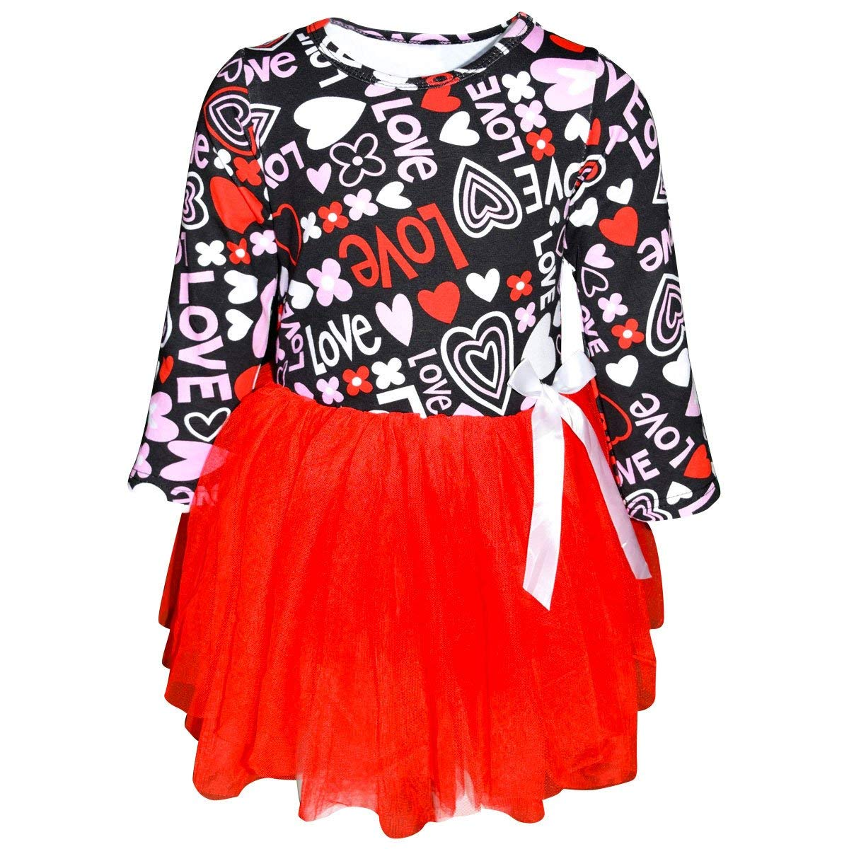 dfee4bc2bc7a Get Quotations · Unique Baby Girls Valentine s Day Love Heart Dress Tutu