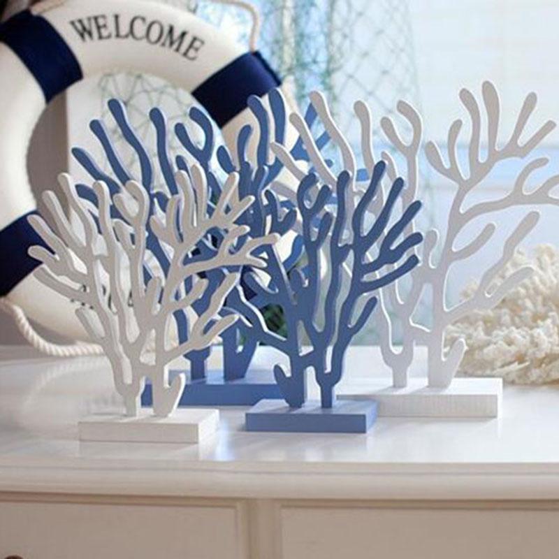 Mediterranean style decorative ornament Wooden coral tree decorative ornament Home furnishing coral tree ornament