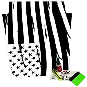 Distressed American Flag Freedom USA Jeep Wrangler JK Hood Blackout Decal Fits 2007-2016 w/ install kit