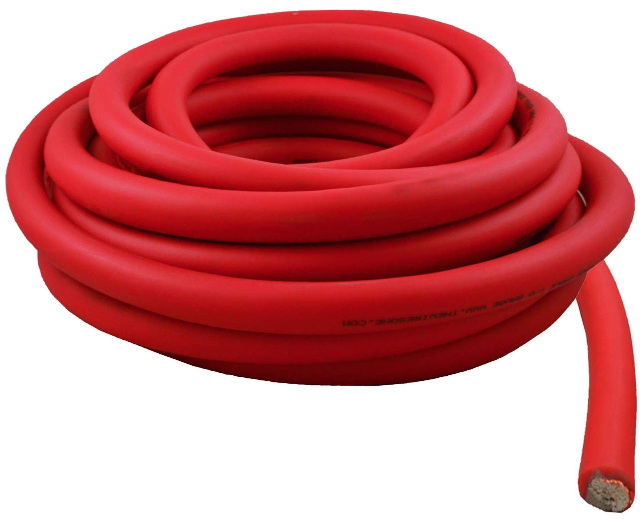0 Gauge 25 Feet Wire 1/0 AWG High Performance Flexible Amplifier Power Cable (Red)
