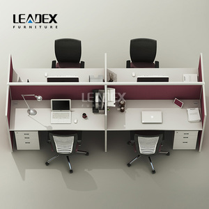 Popular export 4 seat desk partition screen workstation dividers table