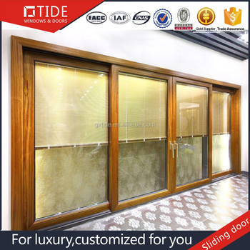 Solid Wood Frame Unbreakable Glass Door Buy Popular Sliding Glass