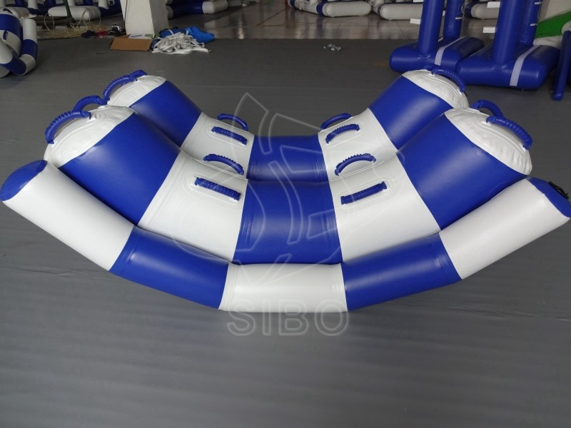 KWP-020 amusement park blue inflatable small float water boat for commercial