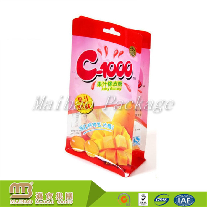 Premium Quality Cheap Price Plastic Candy Packaging Square Bottom Bag With Euro Hole