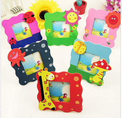 1PC Cheap! Mini Gift Cartoon Wood Picture/Photo Frame Student's/Kids/Children Keepsake/Souvenirs Multi-style