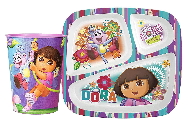 Dora the Explorer 3 Pc Mealtime Set Plate Tumbler Bowl