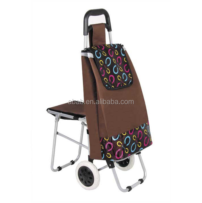 shopping carts trolley seat bags with chair food trolley