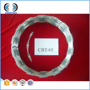 "Razor Wire 18"" Coils Galvanized Razor Ribbon"