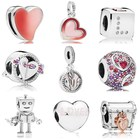 New Jewellery Trends 925 Sterling Silver Valentine's Pandoras Charm Fit Bracelet For Gift