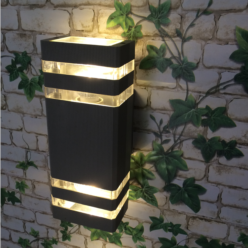 <strong>Modern</strong> Outdoor Waterproof LED Wall Lamps With 2pcs*5W LED Bulbs IP65 Aluminum for Courtyard Garden Porch Corridor