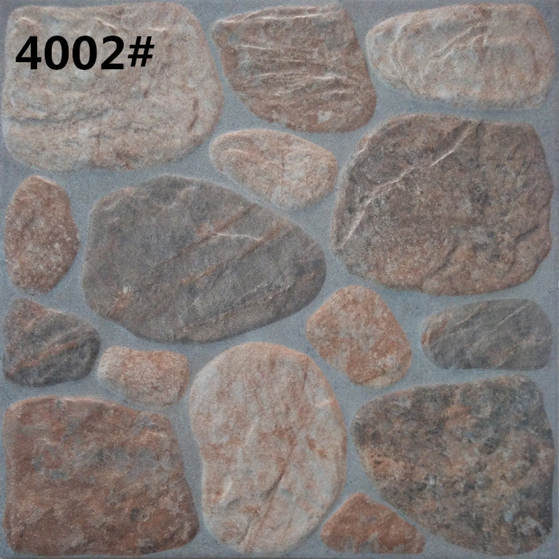 Natural Stone Look Ceramic Floor Tile From Factory 400x400mm