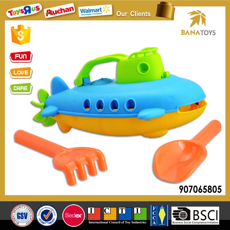 Wholesale plastic beach boat toy with shovel