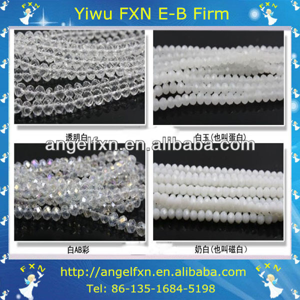 3mm clear faceted czech glass bead