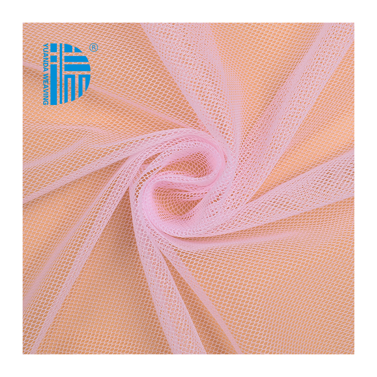 100% Nylon Transparent Knit Net Mesh Soft rolls Tulle Fabric For Mosquito Net