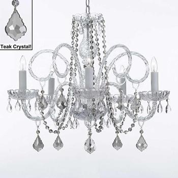Luxury Crystal Chandelier 5 Lights Lustre Verre Buy Chandliers