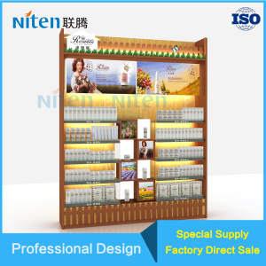 wood side cabinet design bar cosmetic display units