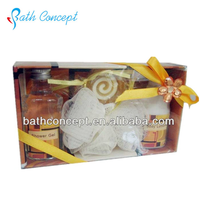 Natural spa bath gift set shampoo/shower gel/soap
