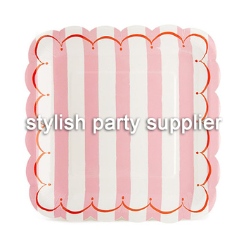 Promotion Pink Blue Striped Paper Plates Paper Cups Paper Napkins Party Supplies  sc 1 st  Yiwu Pingwu Paper Products Firm - Alibaba & Promotion Pink Blue Striped Paper Plates Paper Cups Paper Napkins ...