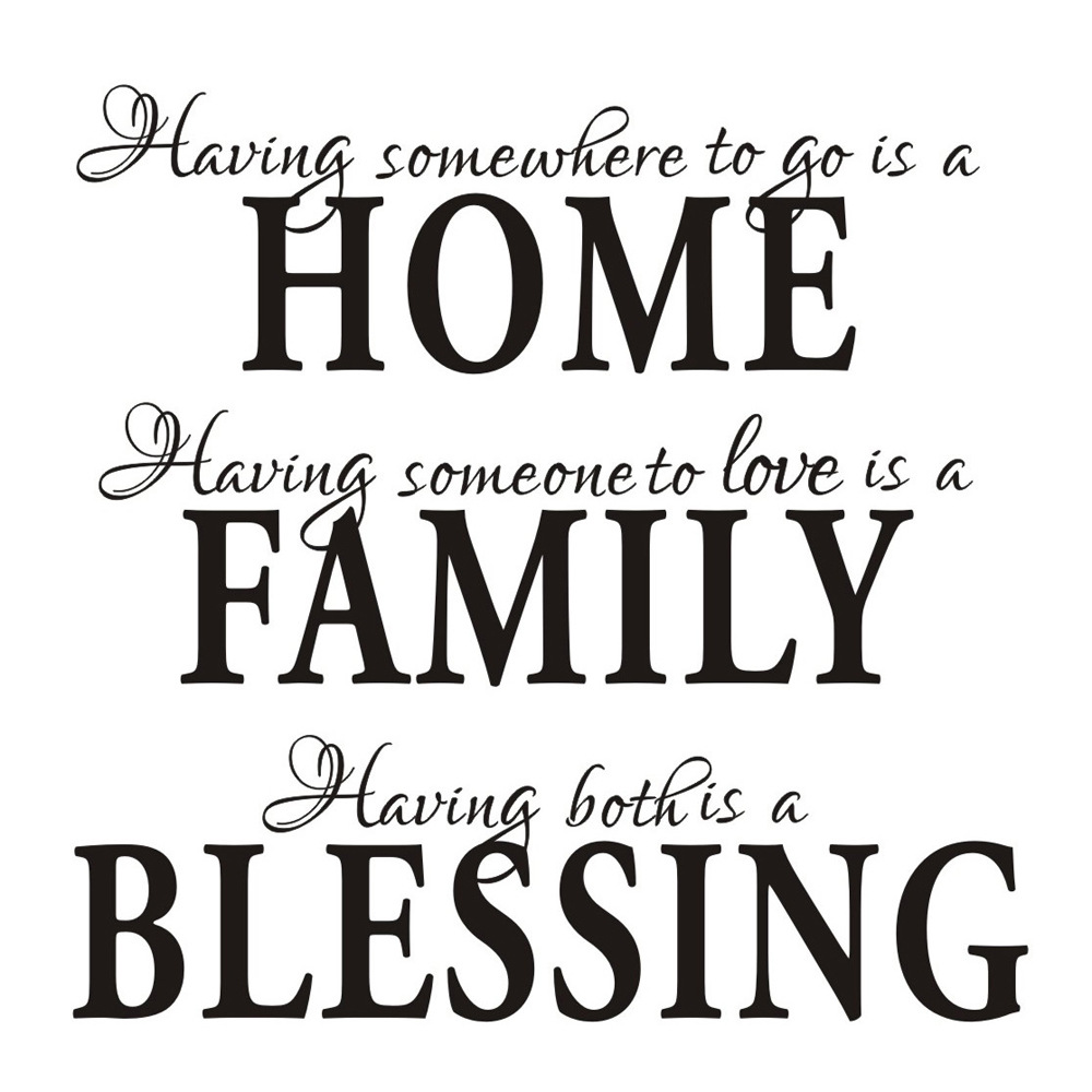 Home Family Blessing English Quote Saying Art Decal Wall Sticker Inspiration New