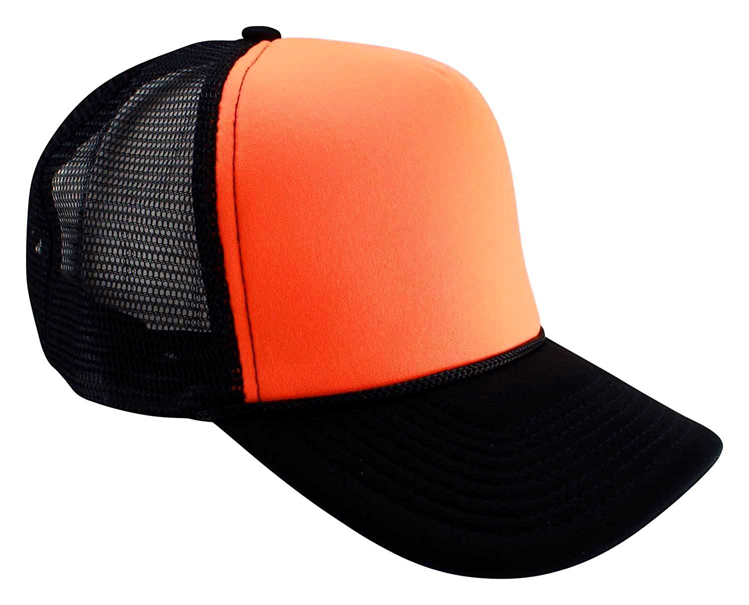 cfe8567e6d6 Get Quotations · Enimay Neon Colored Black Light Trucker Style Foam Hats  Pool Party Rave Summer