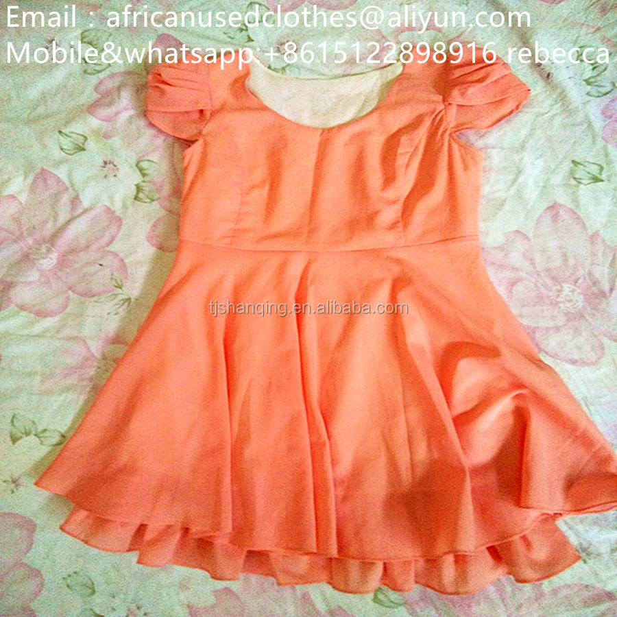 2017 fashion baby used clothing/used clothes,secondhand clothes in bales/ korea elegant dress