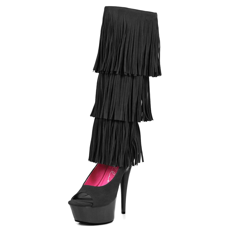 f2e1e8fcfba Cheap Black Fringe Heels, find Black Fringe Heels deals on line at ...