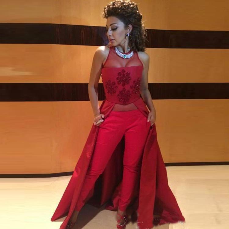 Sıcak Seksi Kadın Takım Elbise Pantolon Akşam Elbise Kıyafeti Parti Kıyafeti Kırmızı Renk Özel 2018