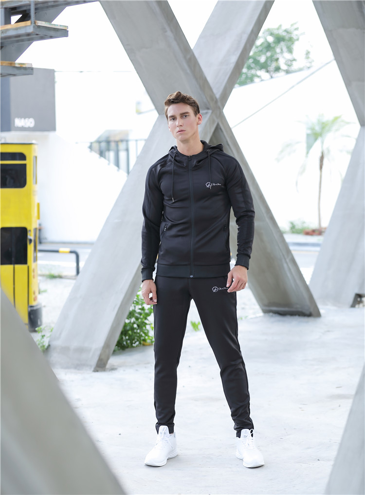 Embroidered Sportswear custom design tracksuits,Hoody Jogging plain hoodies sports tracksuit