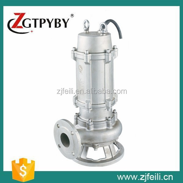acid and alkali resistant WQP 316 series stainless steel sewage pump transfer pump