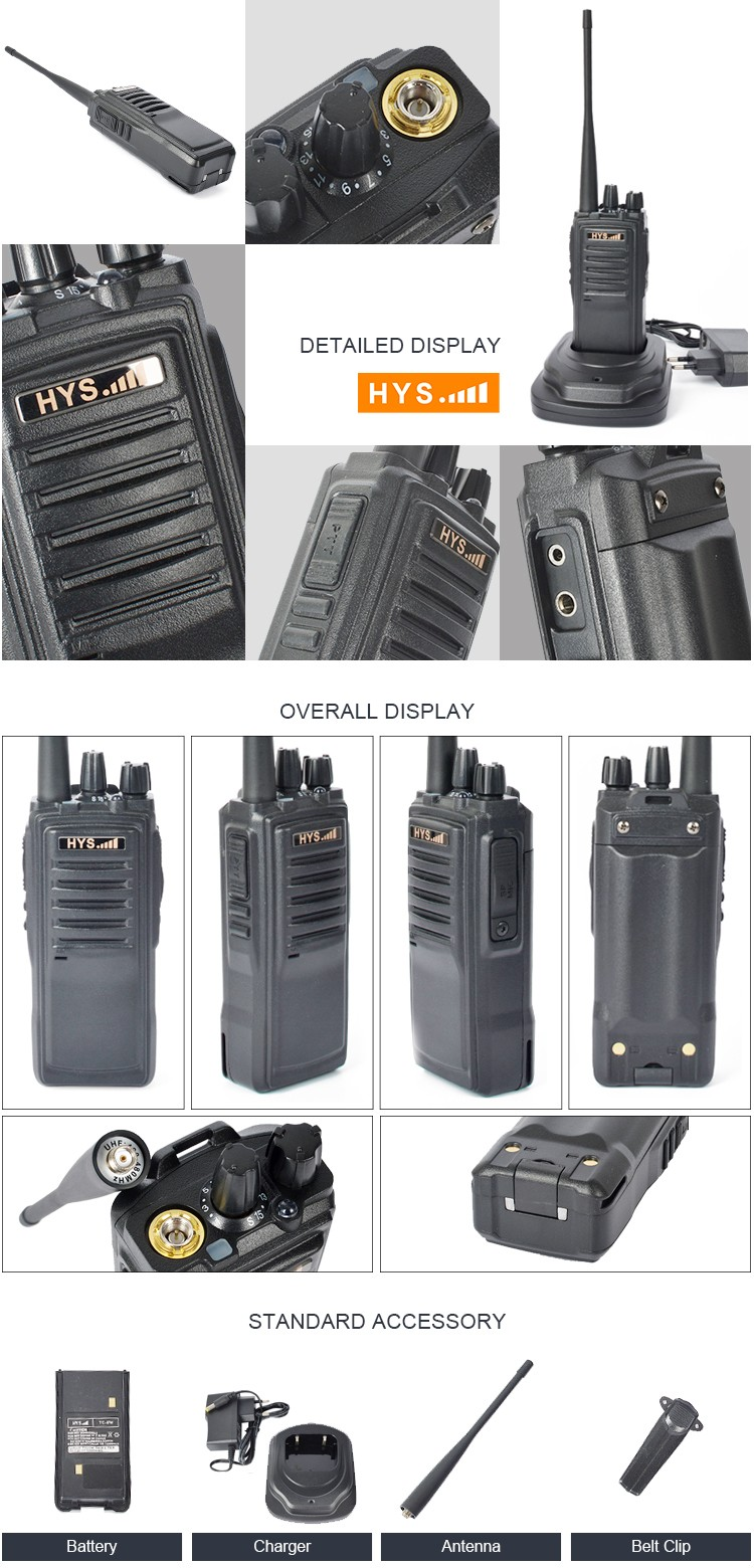 Military Security Guard Equipment 8 Watt Long Range Police Handheld UHF VHF Walkie Talkie Two Way Radio for Sale