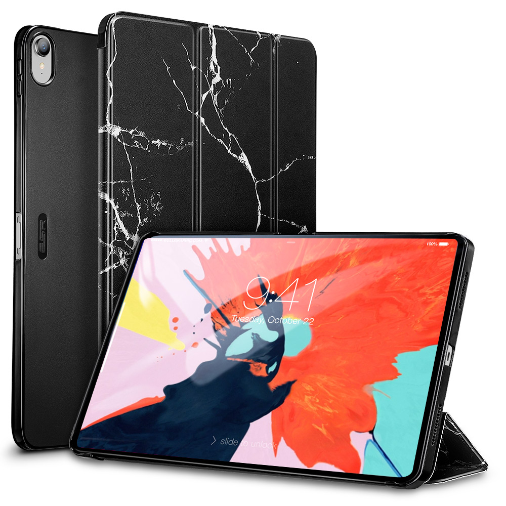 2018 ESR Marble case for iPad Pro 11 Lightweight Smart Trifold Case PU Leather Hard Back Cover case for Apple iPad 11 фото
