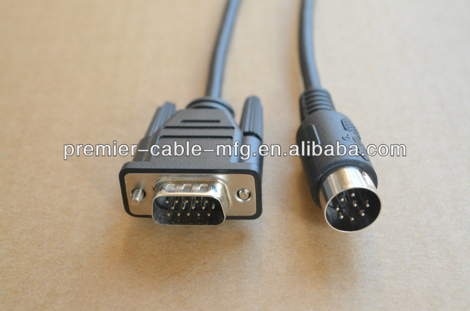 Go Electronic VISCA 8 pin Female Mini-Din to 8 pin Female Mini-Din Extension Adapter Cable