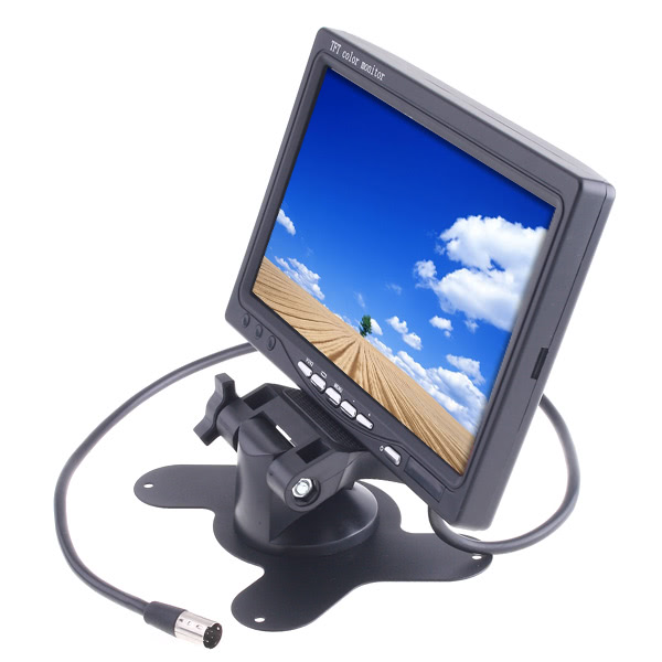 7inch Car Color TFT LCD Monitor 7inch Color TFT LCD Car Rearview Monitor for DVD Camera VCR