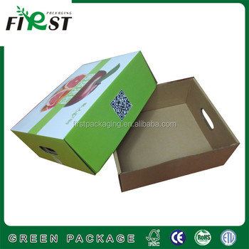 Corrugated Paper Packaging Box,Corrugated Paper Fruit Packing Box with Rope Handle