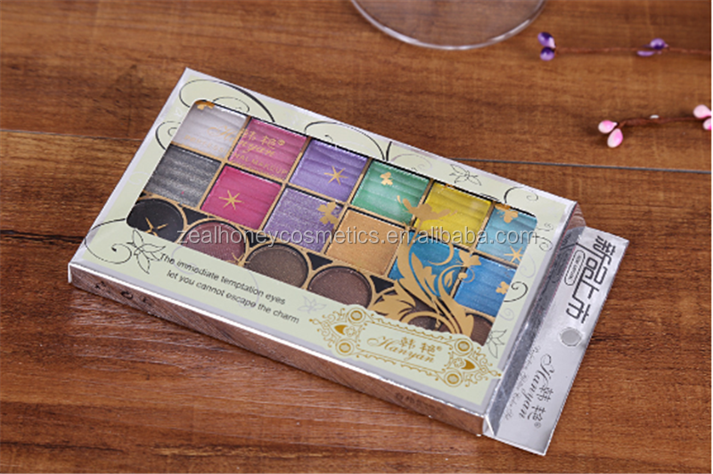2016 hot sale 18 colors cosmetic plate make up earth color jewel eye shadow