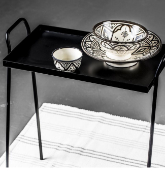Simply Design Round Metal Coffee Side Tea Table For Home Decer Mini Furniture