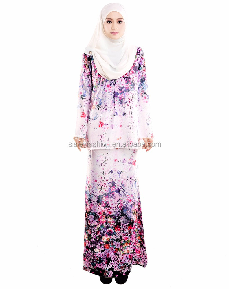 2017 Newest Fashion Islamic Baju Kurung Plus Size Ladies Women ...