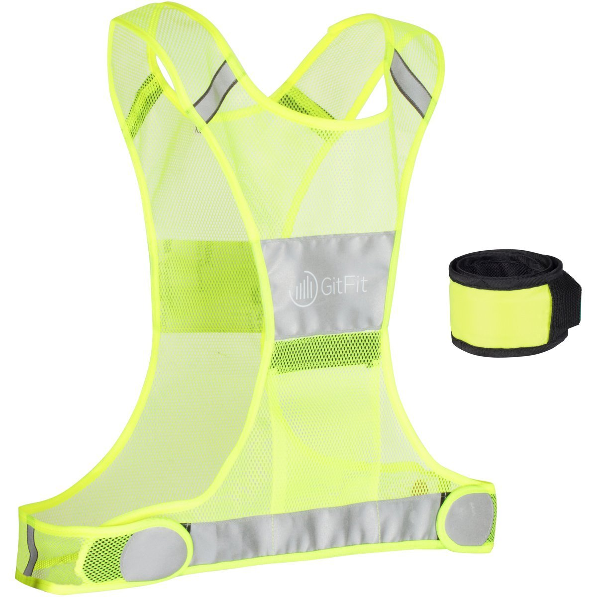 Back To Search Resultsunderwear & Sleepwears Reflective Vest High Visibility Safety Strap Cycling Jogging Running Adjustable Shapers Orange Green Black Purple Red High Quality Goods