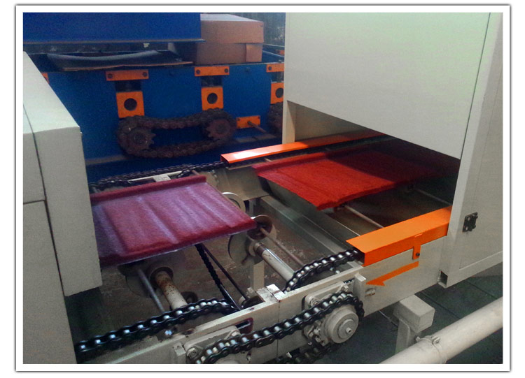 hebei xinnuo stone-coated metal roof tile making machine