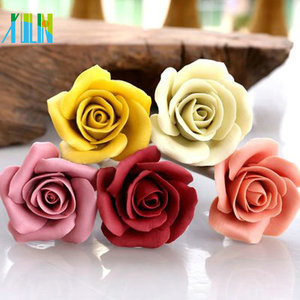 high quality colourful rose resin flower beads